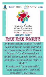 Manifestazione canina -bau bau party-